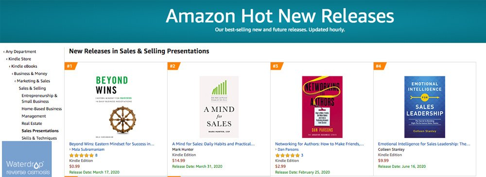 Amazon New Release in Sales and Selling Presentations